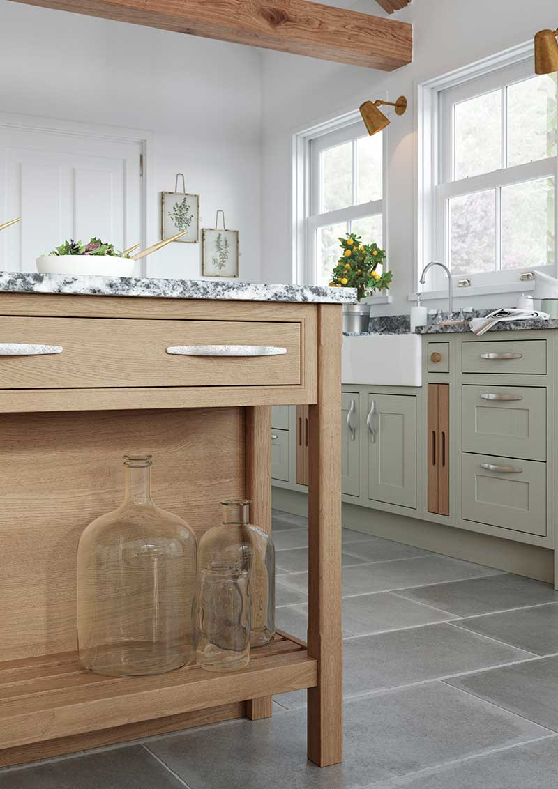 Feature Island Base End Shelf Cabinet
