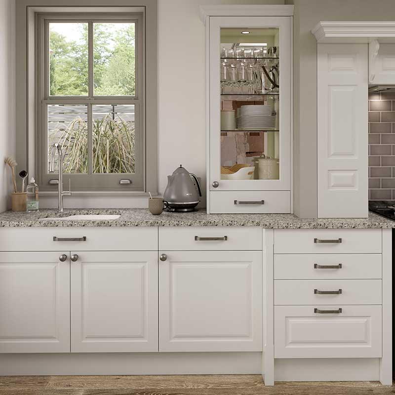 Kitchen shaker style glazed dresser