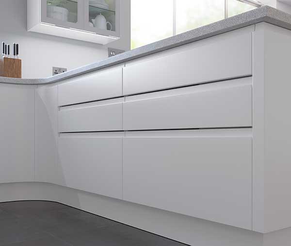 Segreto Modern Kitchen Handle Detail