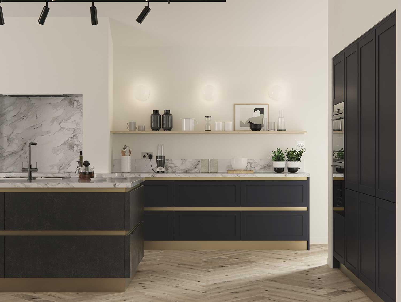 Cambridge modern Slim Shaker kitchen Door Style
