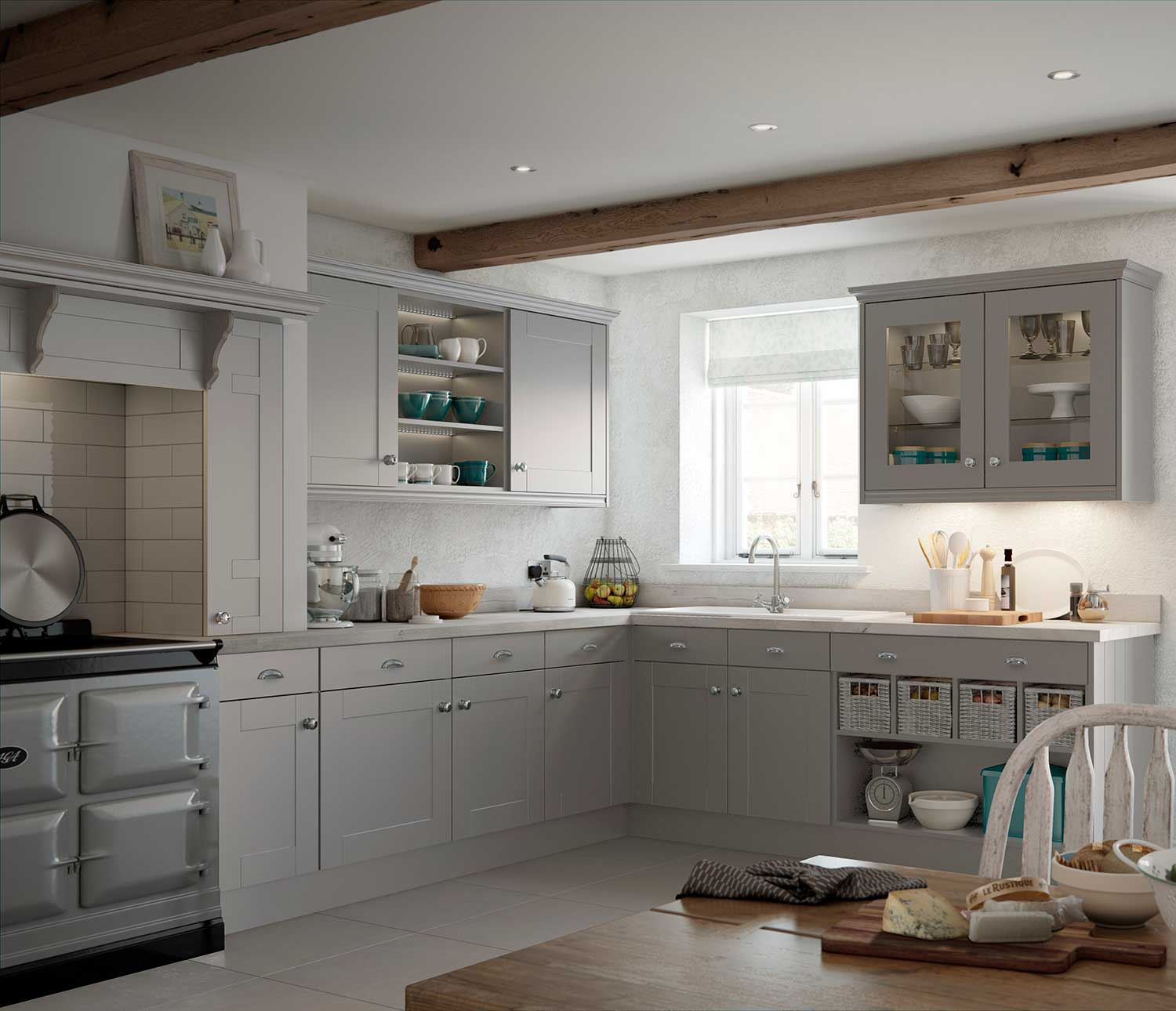Canterbury classic shaker kitchen shown in Dust Grey