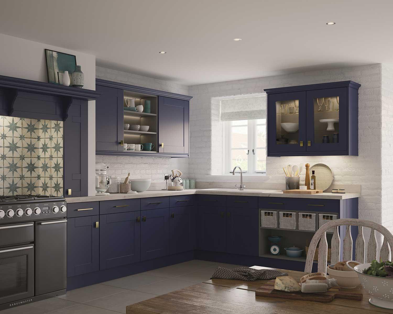 Canterbury modern kitchen shown in Azure Blue