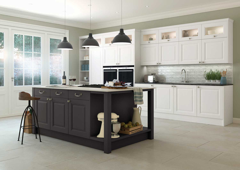 Gainsborough classic kitchen in Chalk White _ Anthracite Grey