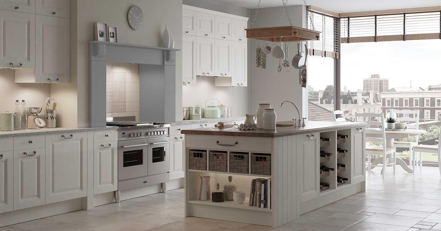 Gainsborough shaker kitchen shown in Calico _ Pale Grey
