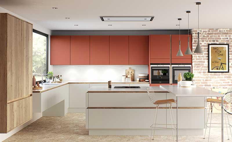 H-line hampton mussel terracotta modern kitchens