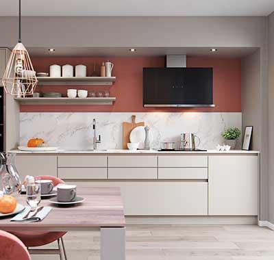 H-line larna highland stone grey handle contemporary kitchen