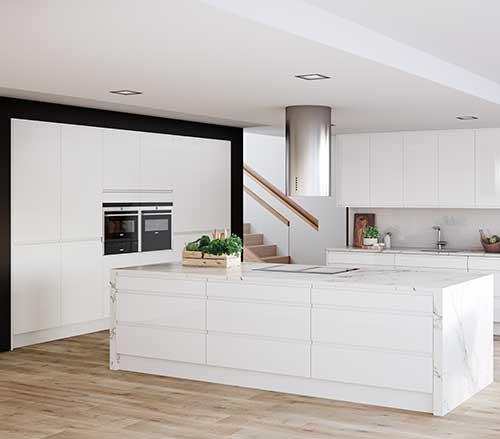 Italia white contemporary kitchen