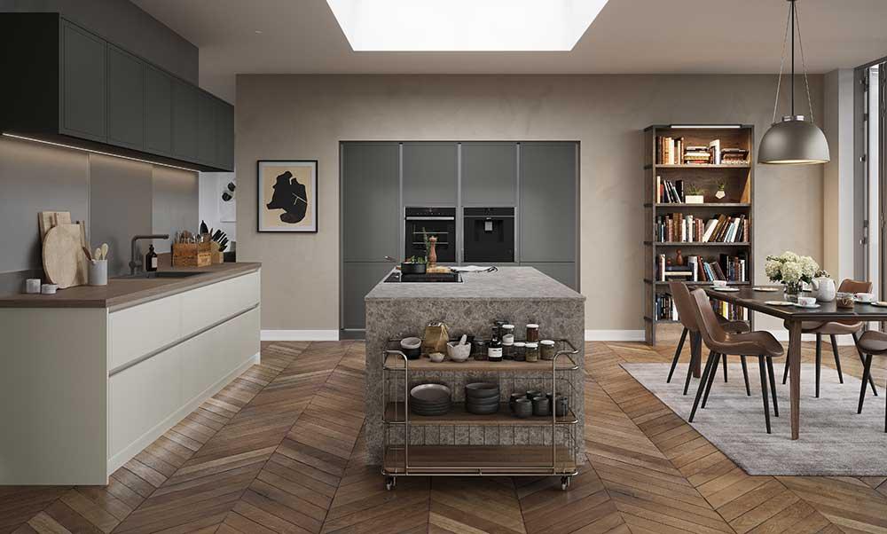 Melrose H-Line Highland Stone Modern Kitchen