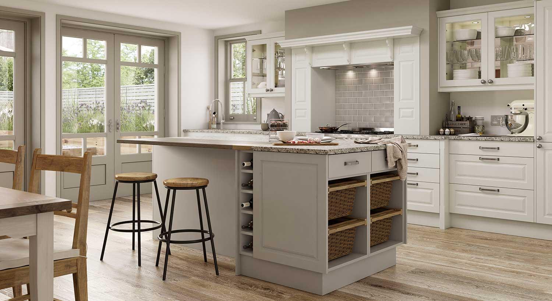 Newbury shaker kitchen shown in Ivory _ Cashmere