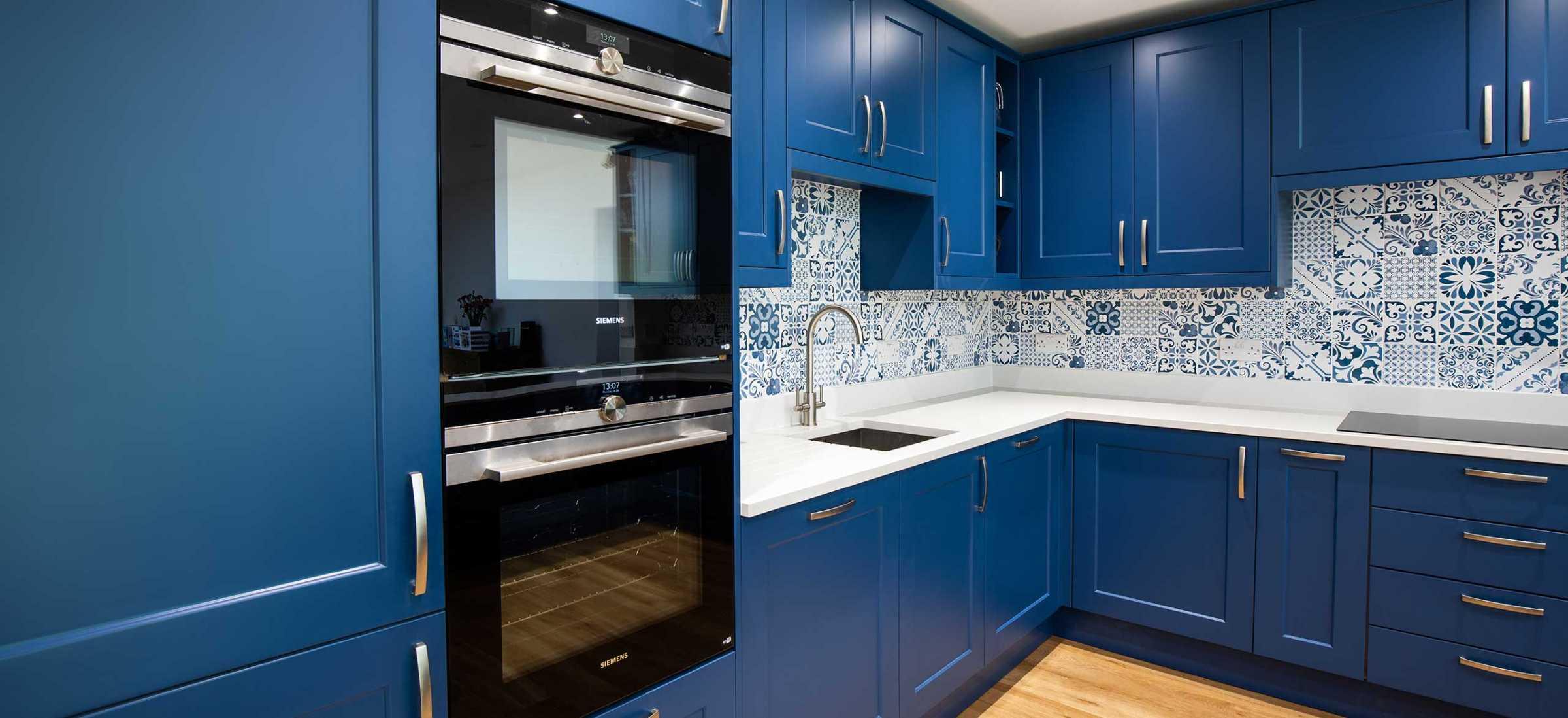 Blue shaker kitchen design Redhill