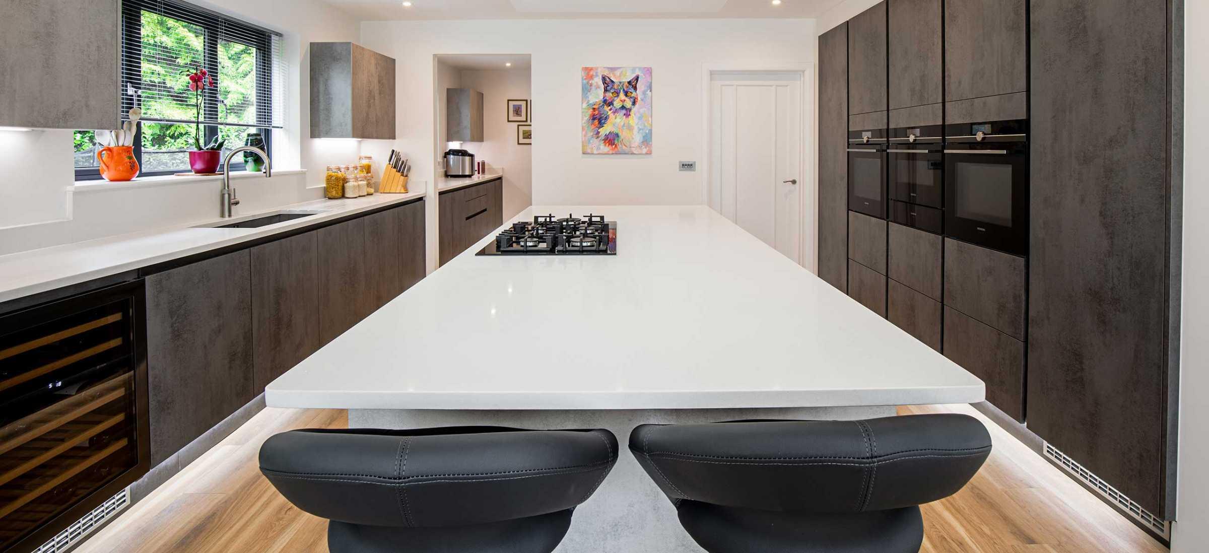 Cucina Colore contemporary kitchen Reigate