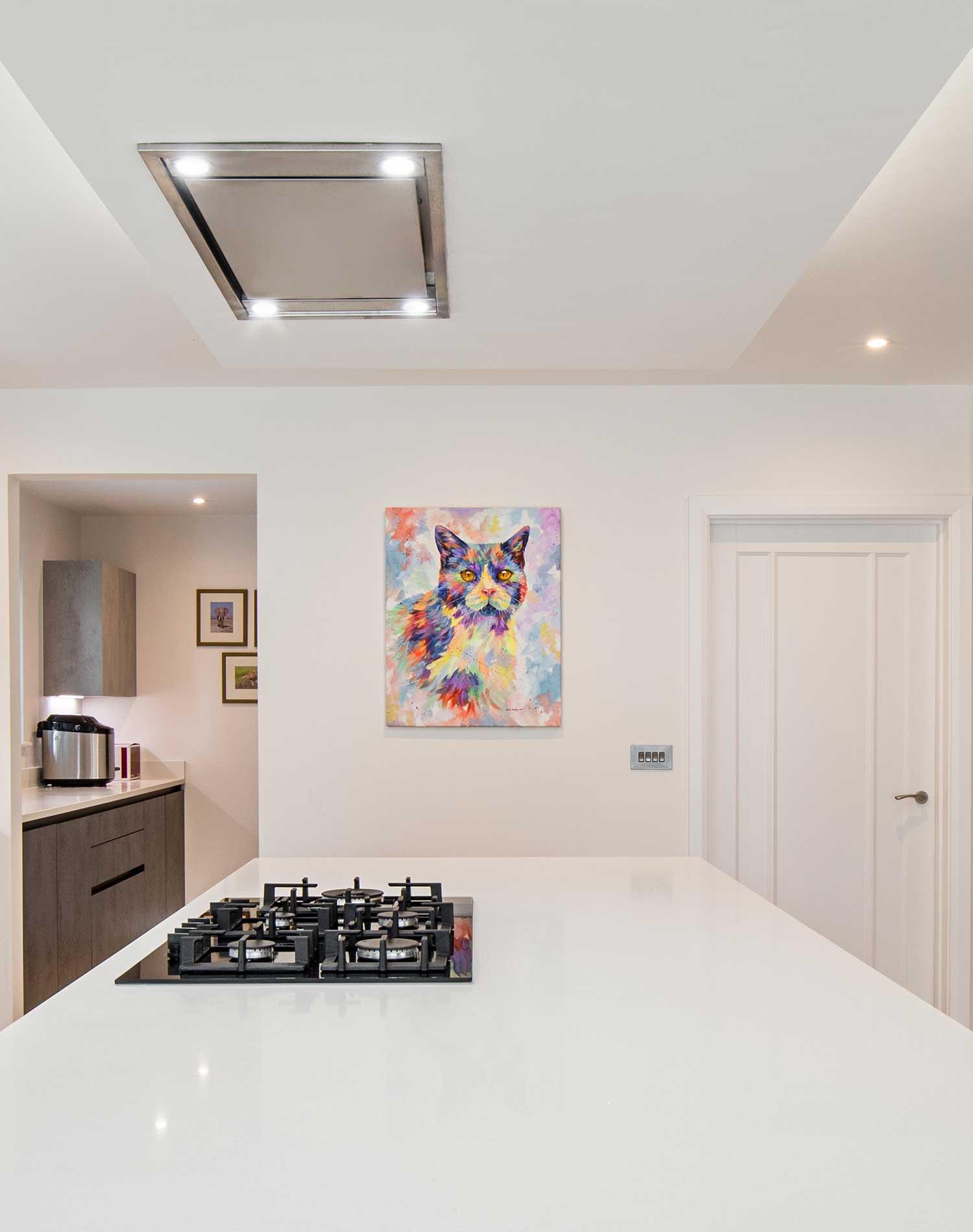 Handleless, sleek kitchen