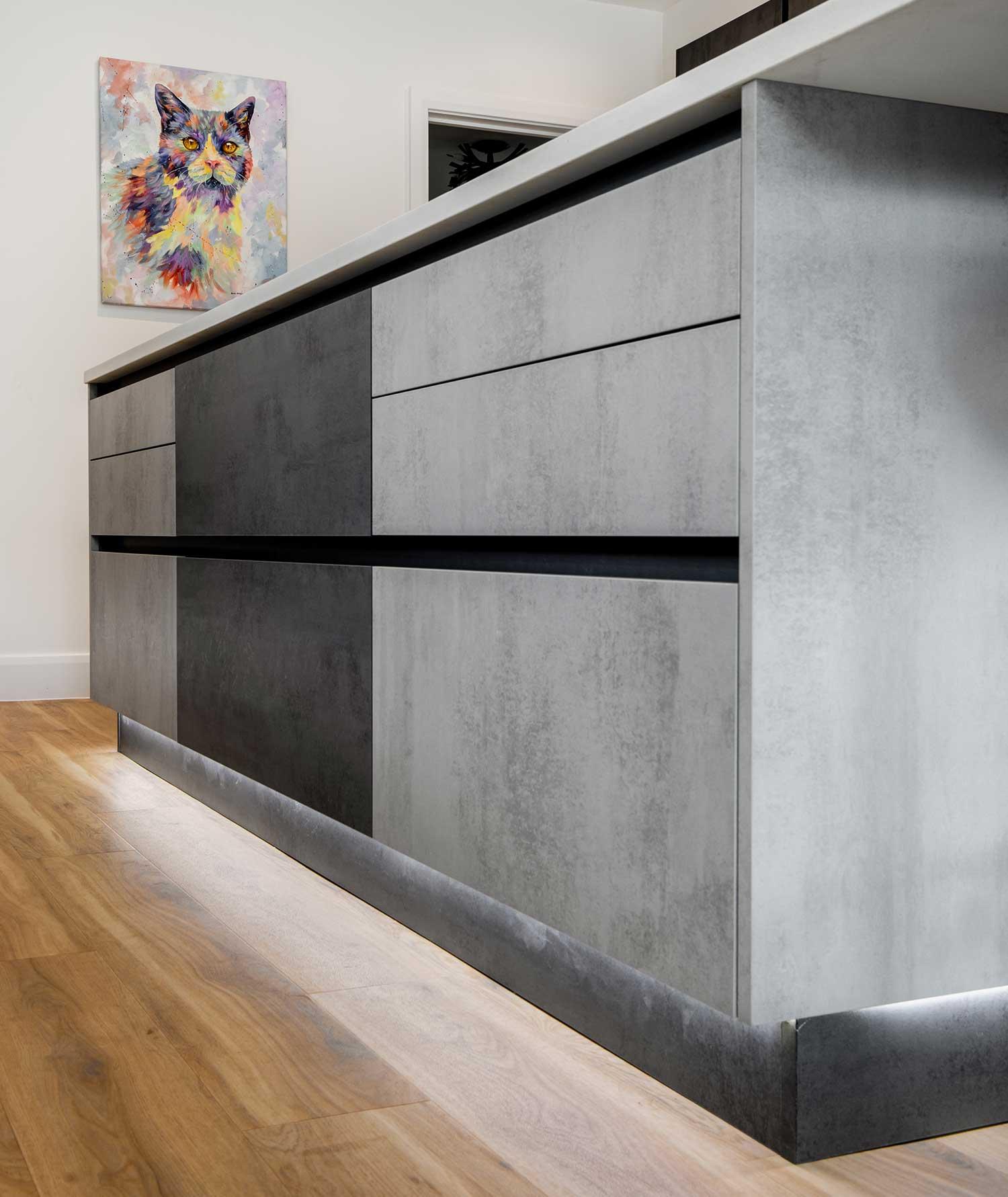 Shades of grey kitchen design Surrey